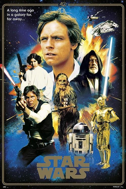 Plakát Star Wars - 40th Anniversary Heroes