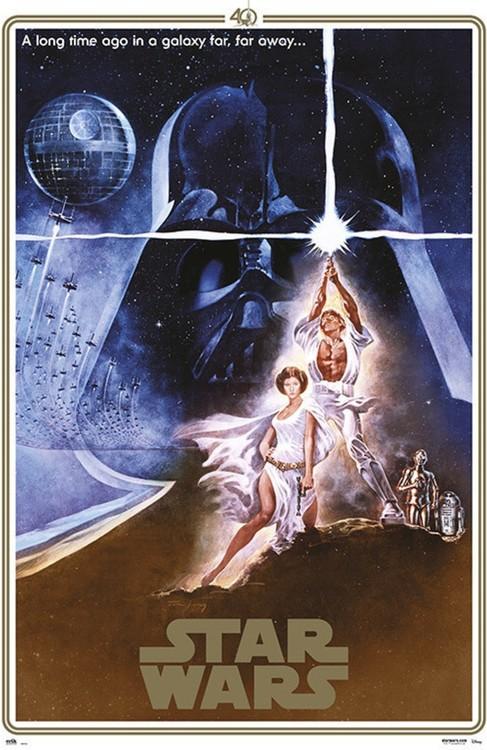 Plakát  Star Wars - 40th Anniversary One Sheet