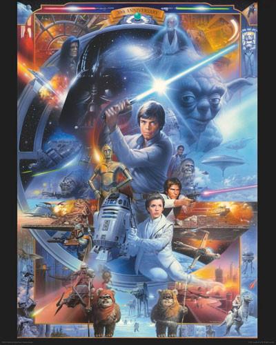 Plakát STAR WARS - anniversary