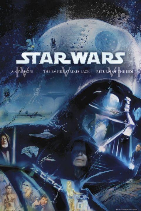 Plakát STAR WARS - blue ray classic