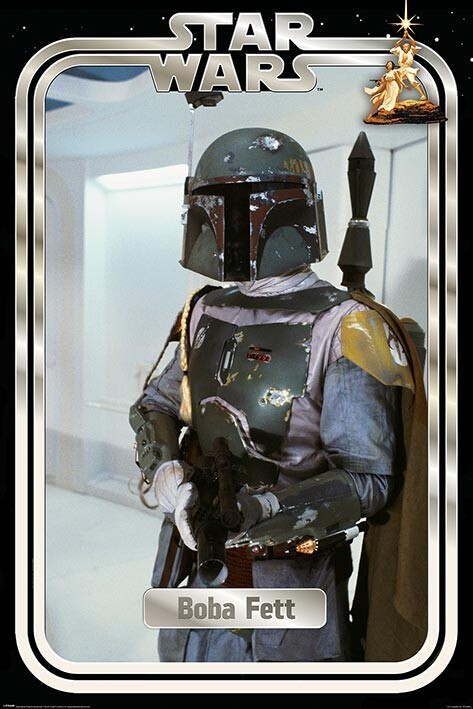 Plakat Star Wars - Boba Fett Retro Packaging
