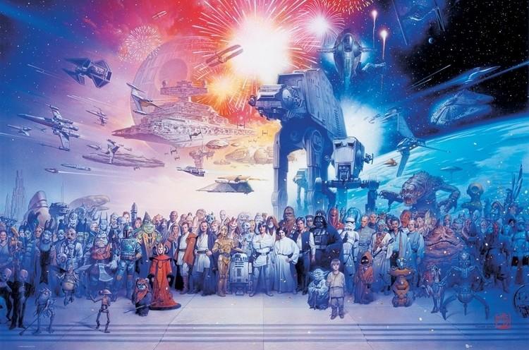 Plakát STAR  WARS - cast