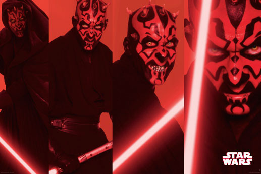 Plakát STAR WARS - Darth maul panels