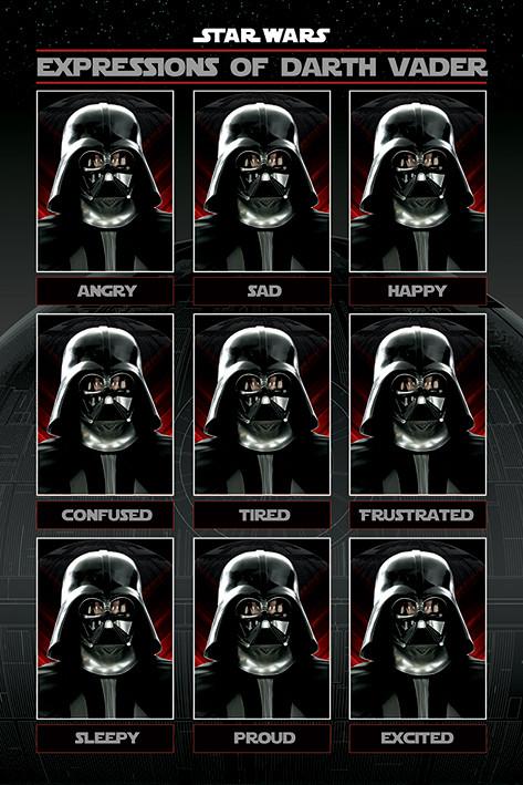 Plakát Star Wars - Expressions of Darth Vader