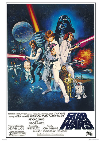 Plakat STAR WARS - GWIEZDNE WOJNY - A New Hope