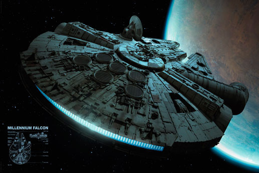Plakat STAR WARS - Millennium falcon