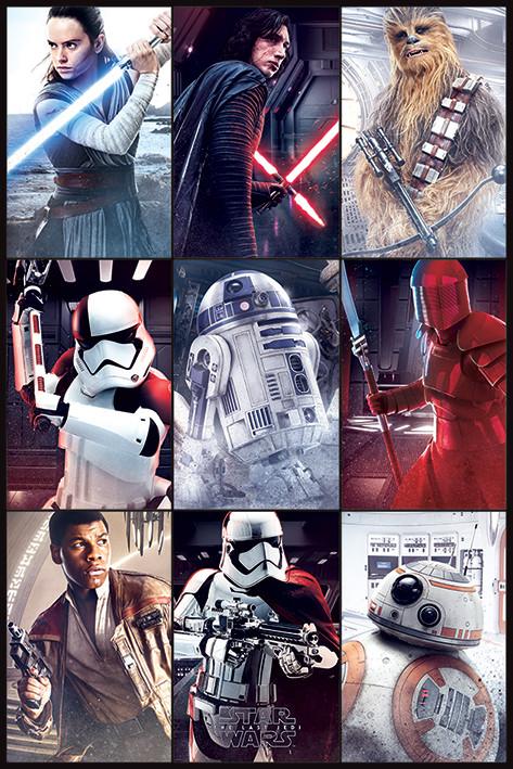 Plakát  Star Wars: Poslední z Jediů - Characters