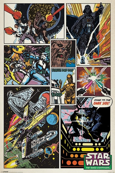 Plakát Star Wars - Retro comic