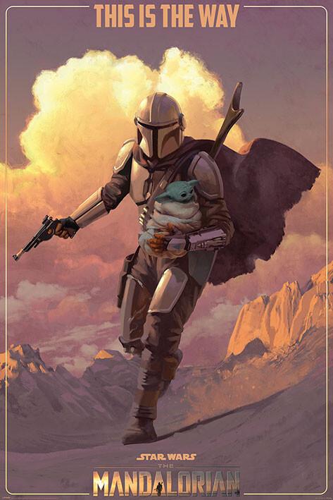 Plakát Star Wars: The Mandalorian - On The Run