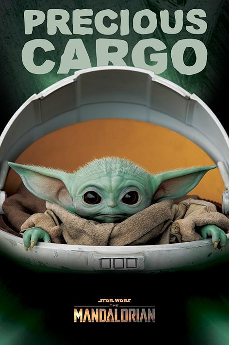 Plakát Star Wars: The Mandalorian - Precious Cargo (Baby Yoda)