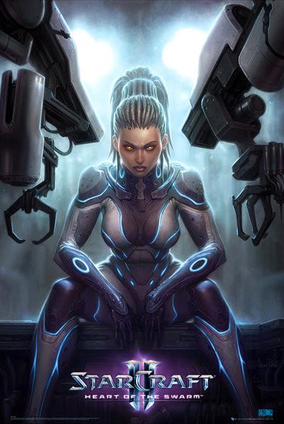 Plakat Starcraft 2 – kerrigan