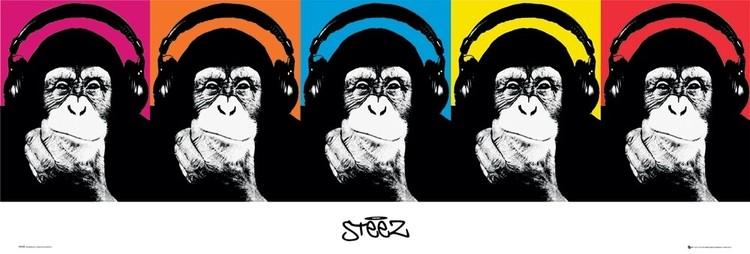 Plakat Steez - monkey