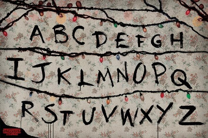 Plakát Stranger Things - R, U, N