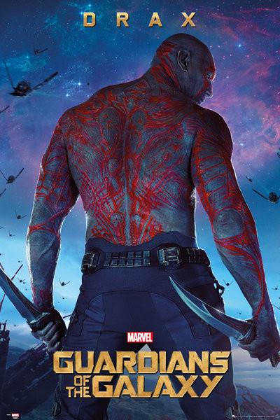 Plakát Strážci Galaxie - Drax