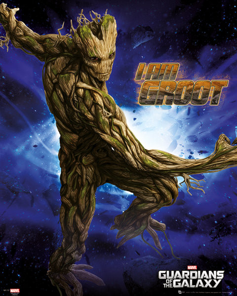 Plakát Strážci Galaxie - Groot