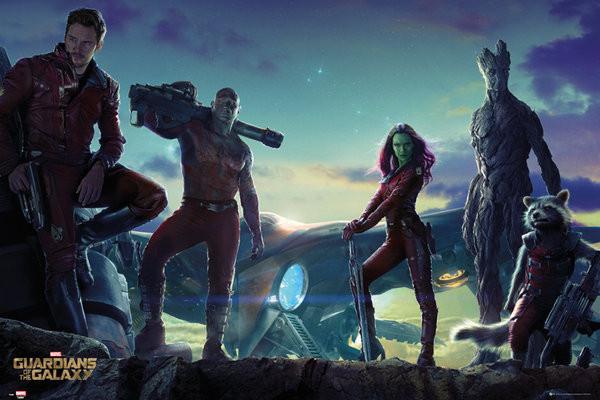 Plakát Strážci Galaxie - Group Landscape