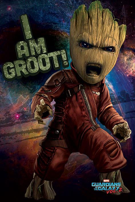 Plakat  Strażnicy Galaktyki vol. 2 - Angry Groot