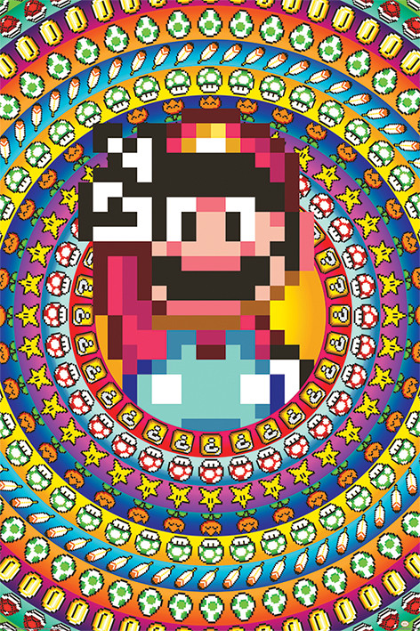 Plakát Super Mario - Power Ups