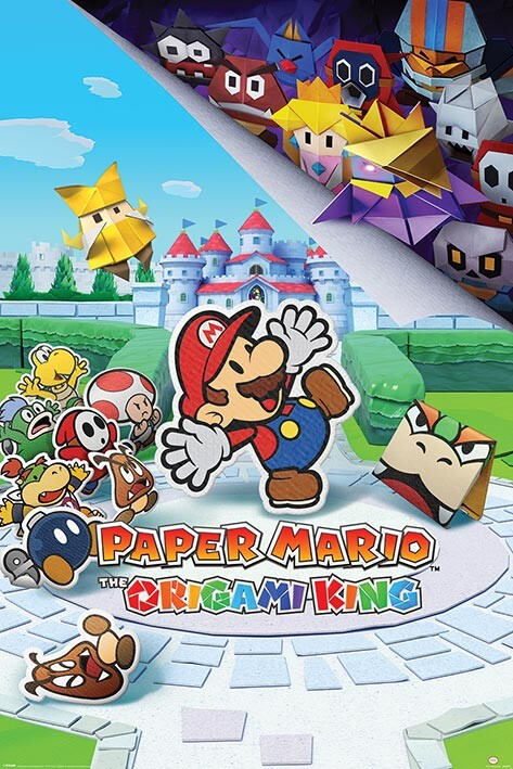 Plakát Super (Paper) Mario - The Origami King