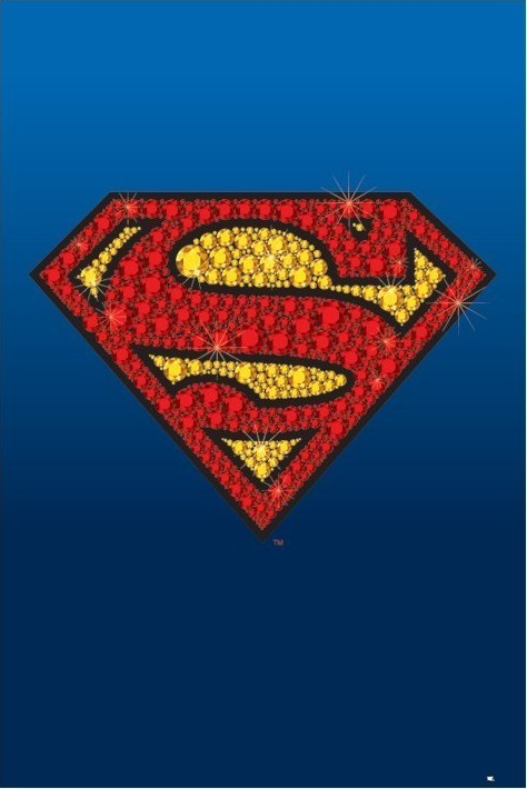 Plakát SUPERMAN - bling logo