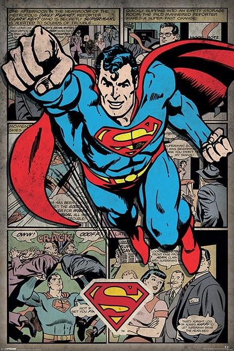 Plakát Superman -  Comic Montage