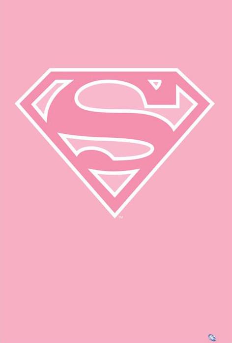 Plakát Superman - logo/růžová