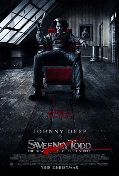Plakát Sweeney Todd: Ďábelský holič z Fleet Street