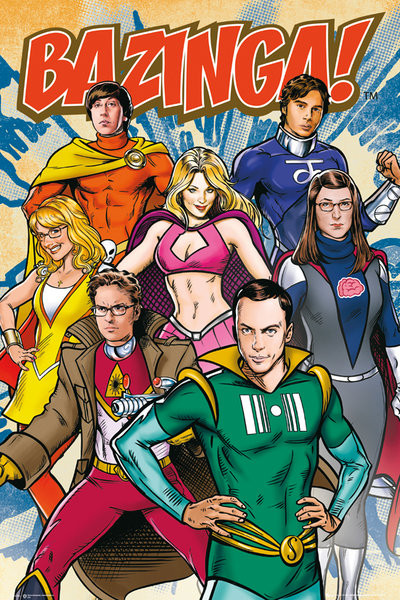 Plakat TEORIA WIELKIEGO PODRYWU - THE BIG BANG THEORY - Comic