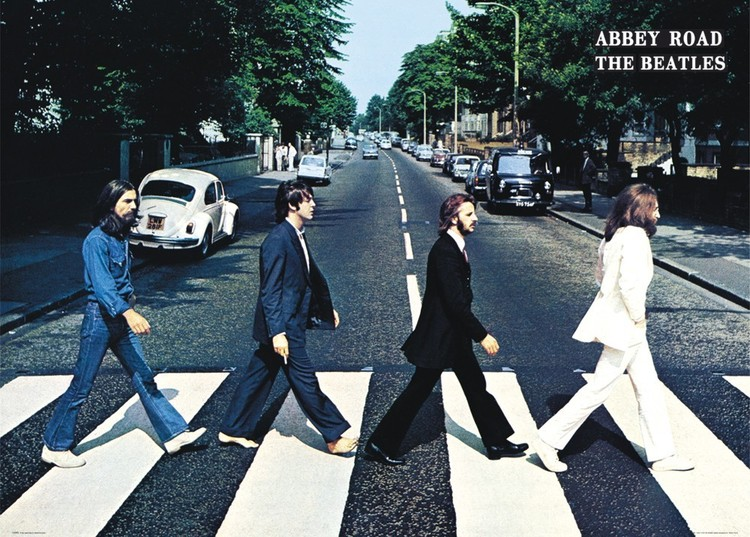 Plakát The Beatles - abbey road