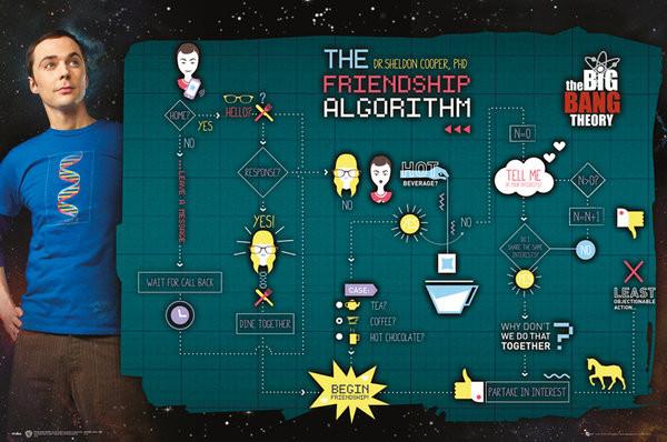 Plakát The Big Bang Theory (Teorie velkého třesku) - Friendship