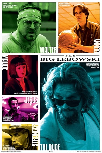 Plakat The Big Lebowski - Zitate