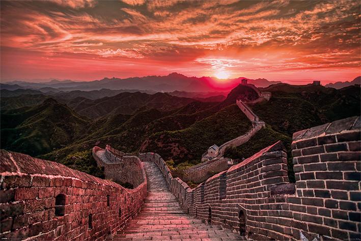 Plakát The Great Wall Of China - Sunset