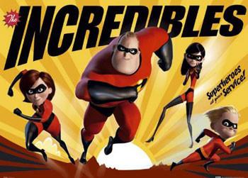 Plakat The Incredibles - super heroes
