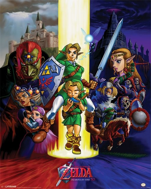 Plakat The Legend Of Zelda - Ocarina Of Time