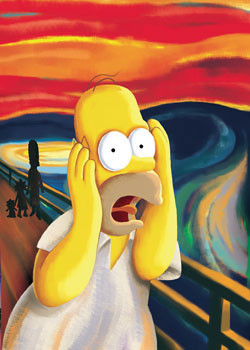 Plakat  THE SIMPSONS - scream