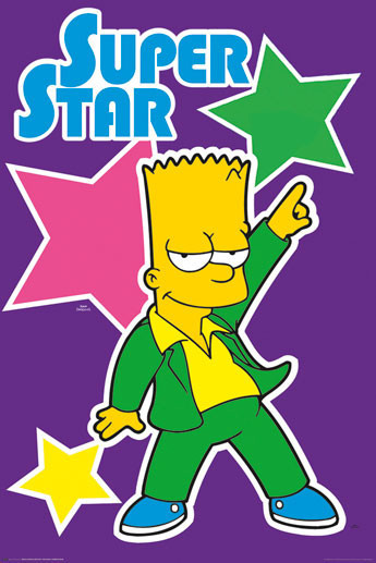 Plakát THE SIMPSONS - superstar