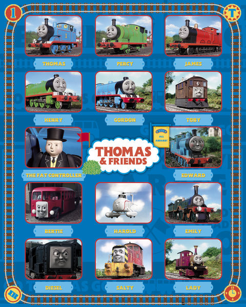 Plakat THOMAS AND FRIENDS - characters
