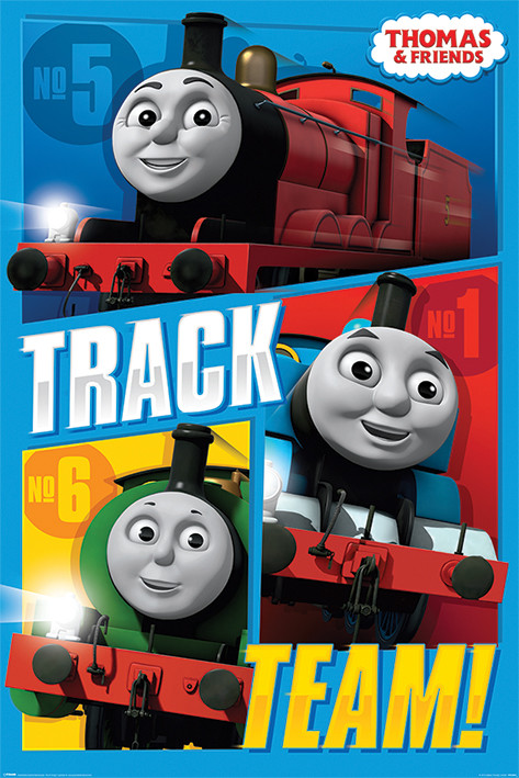 Plakat Thomas & Friends - Track Team