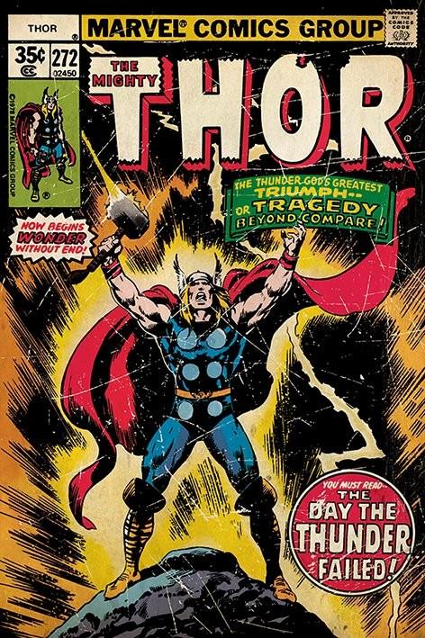 Plakát THOR - retro comic