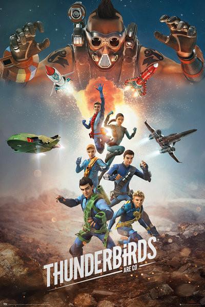 Plakát Thunderbirds Are Go - Collage
