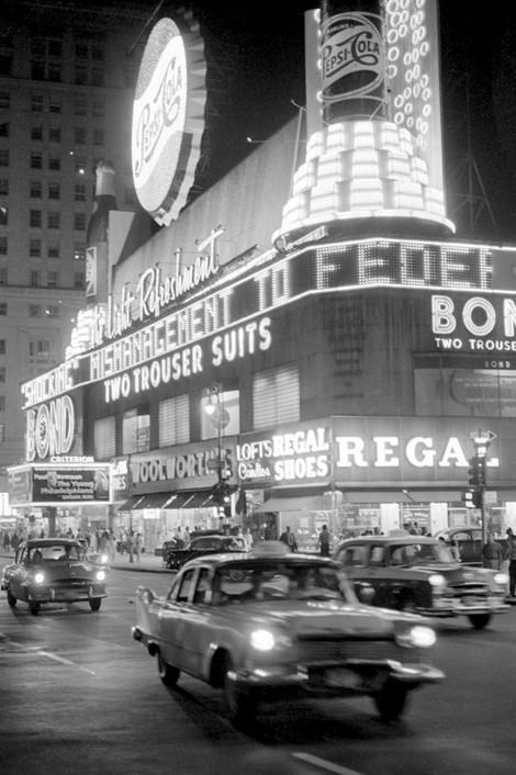 Plakát Times square - 1960