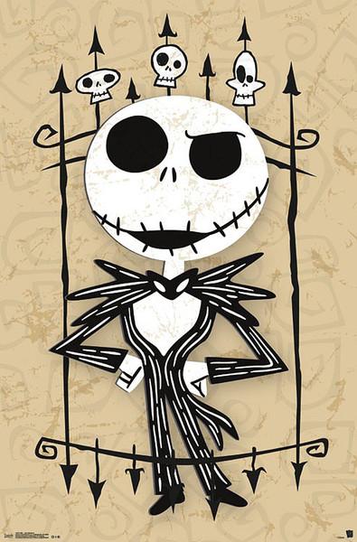 Plakát  Ukradené Vánoce Tima Burtona - Jack