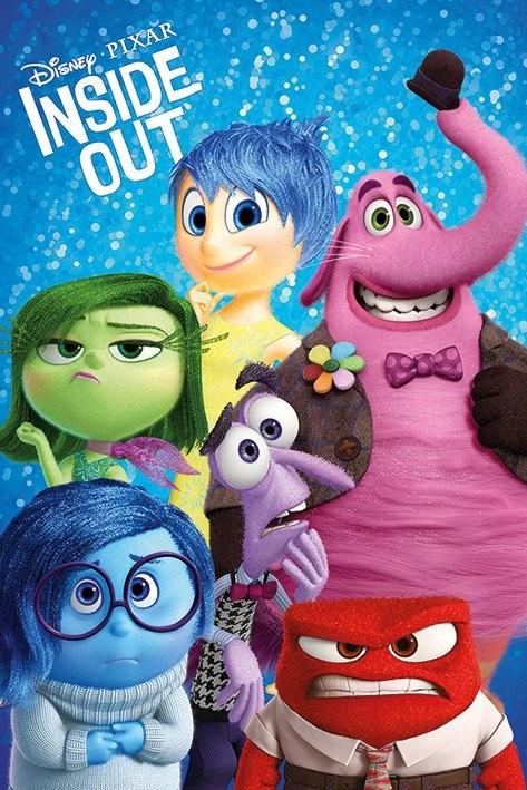 Plakát V hlavě - Characters