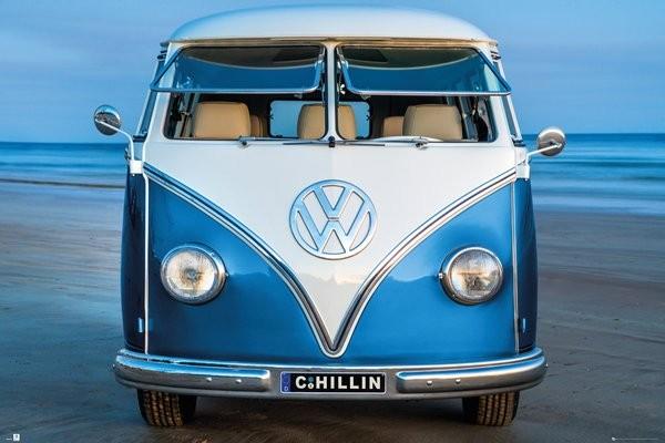 Plakát  Volkswagen - Brendan Ray Blue Kombi