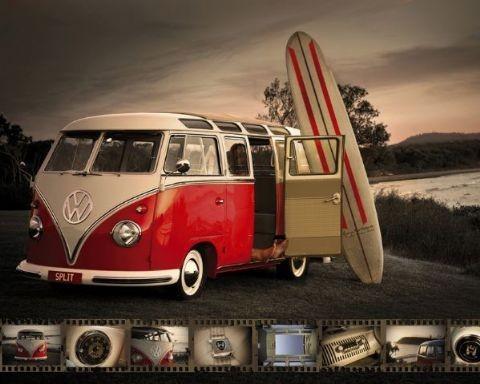 Plakát VW Camper – kombi surf
