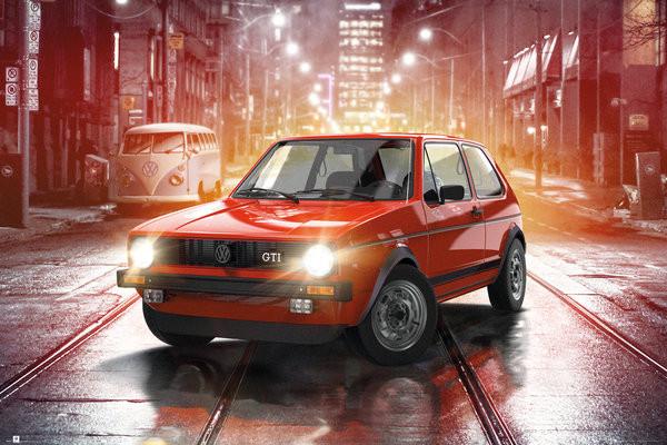 Plakat  VW Golf I - GTI