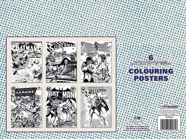 Vybarvovací Plakát  DC Originals - Retro