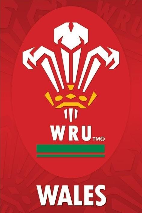 Plakat Wales R.U - crest