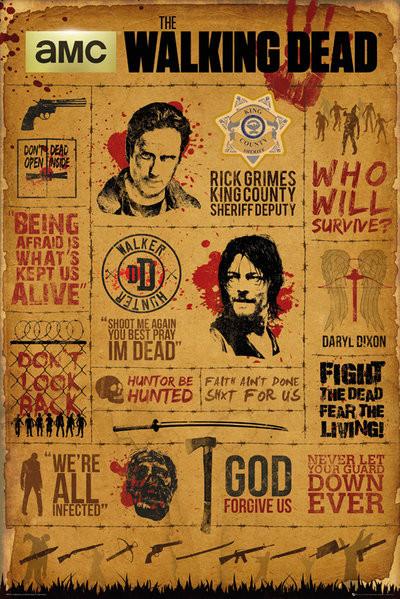 Plakát Walking Dead - Infographic