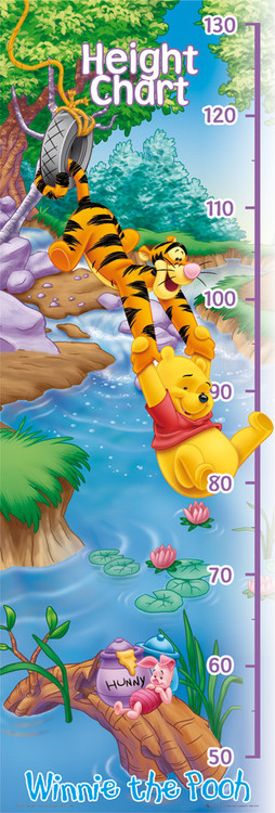 Plakat WINNIE THE POOH - heigh chart